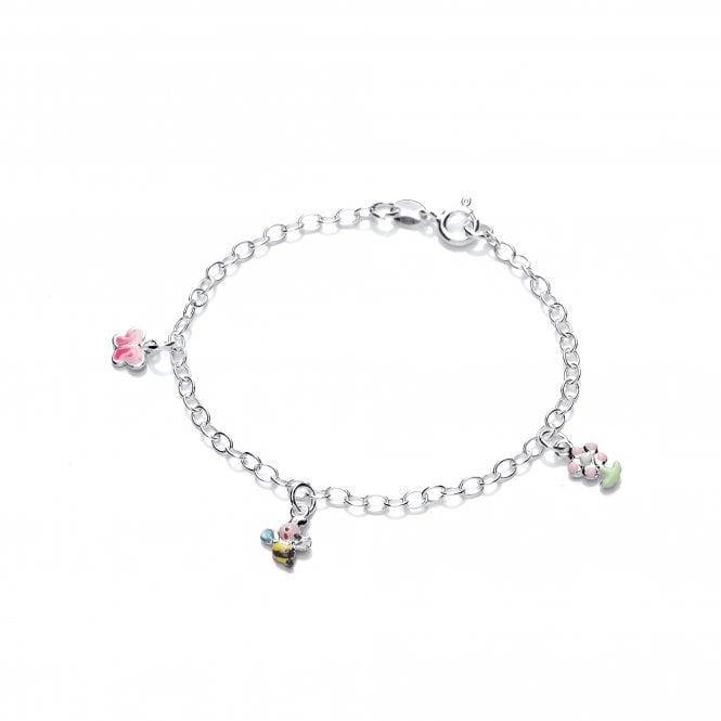 Sterling Silver Bee Chain Bracelet Daisy London NEW