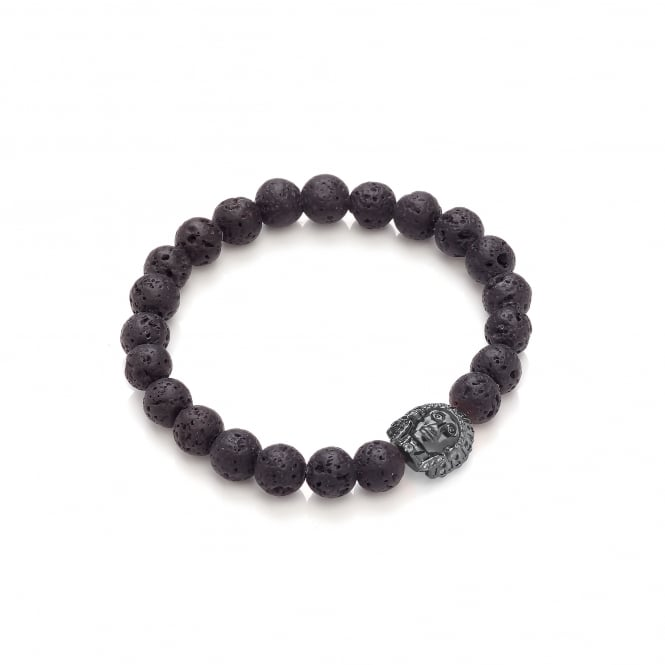 David Deyong Lava Stone Black Rhodium