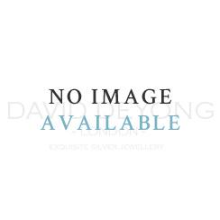 Single Earring - Sterling Silver & Rose Gold Plated Diamond Cut 35mm Hoop Earring