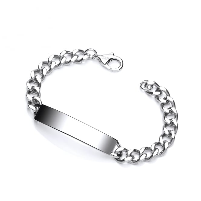 David Deyong Stainless Steel Curb Chain ID Bracelet