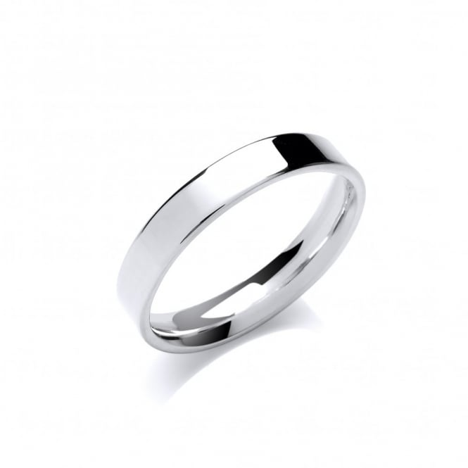David Deyong Sterling Silver 3.5mm Classic Flat Band