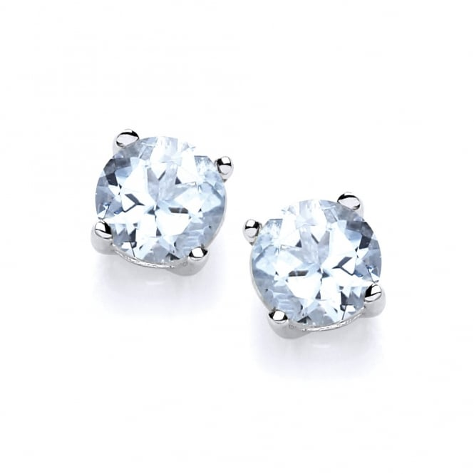 David Deyong Sterling Silver Aquamarine Stud Earrings