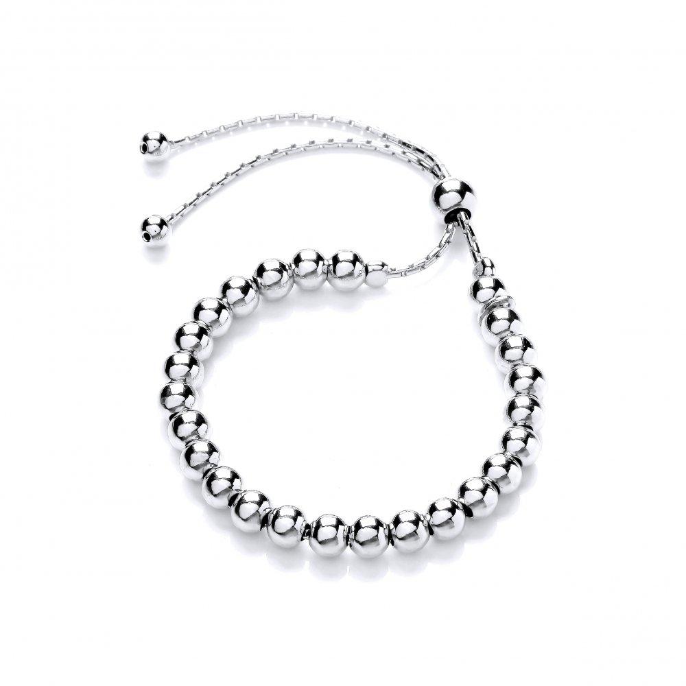 6ba00333d2b77 David Deyong Sterling Silver Ball Friendship Bracelet - Sterling ...