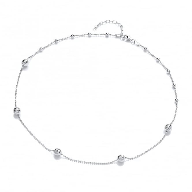 David Deyong Sterling Silver Beaded Necklace