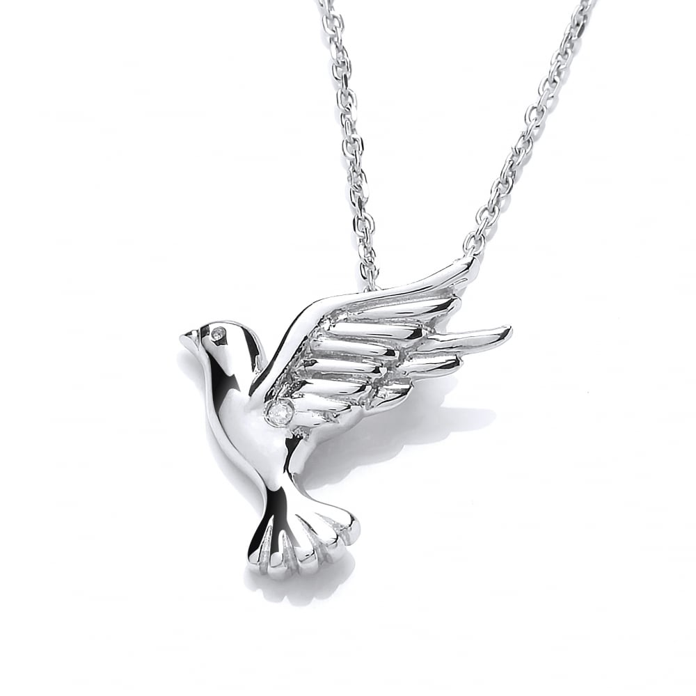 sterling stag and stars necklaces silver juniper product la jewellery bird deer of home robin star necklace