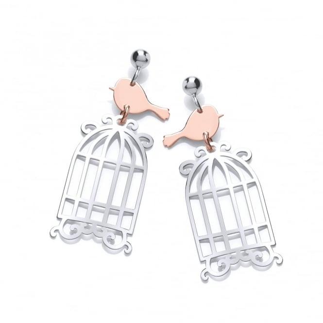 754cdba1b8732 David Deyong Sterling Silver Birdcage Drop Earrings