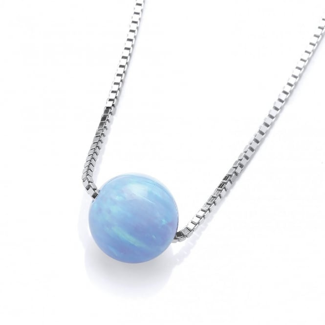 David Deyong Sterling Silver & Blue Opal Ball Necklace
