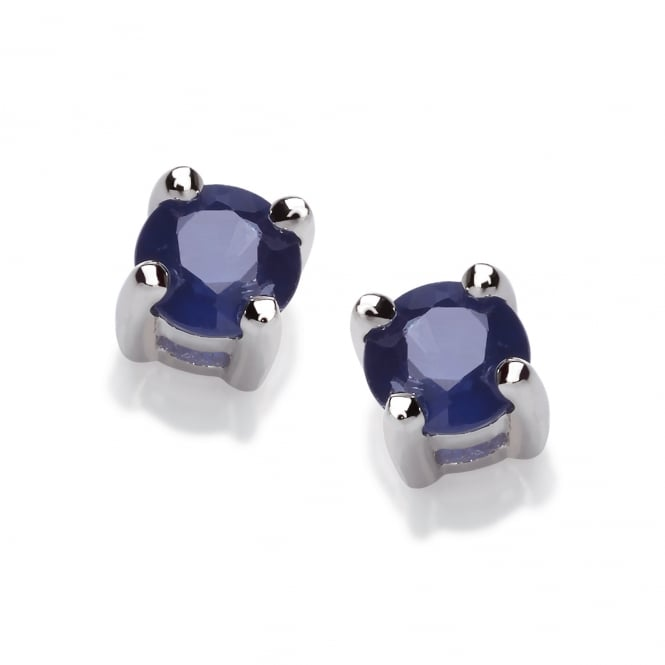 David Deyong Sterling Silver Blue Sapphire Stud Earrings