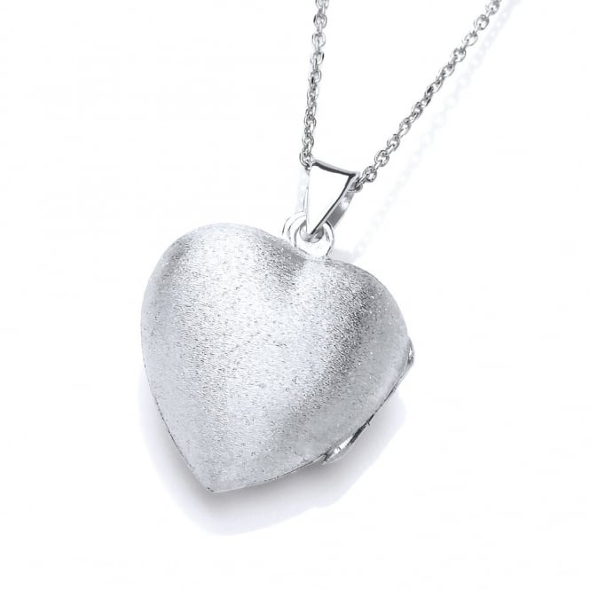 David Deyong Sterling Silver Brushed Heart Locket