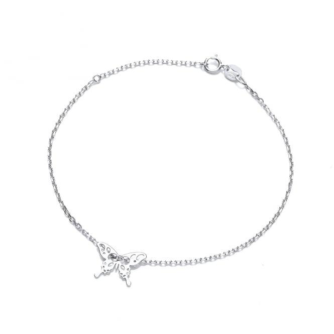 David Deyong Sterling Silver Butterfly Fine Bracelet