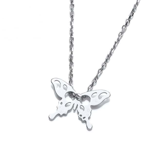 David Deyong Sterling Silver Butterfly Fine Necklace
