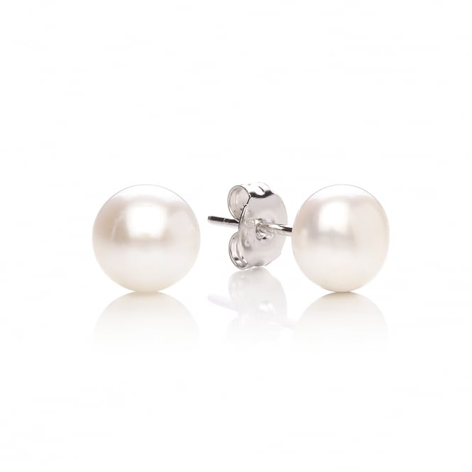 David Deyong Sterling Silver & Button Pearl 7.5mm Stud Earrings