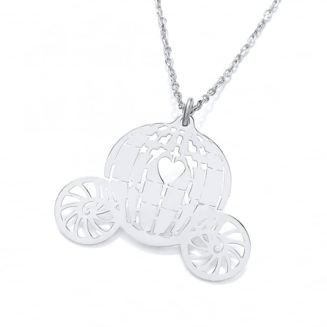 David Deyong Sterling Silver Carriage Necklace