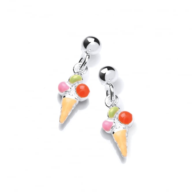 David Deyong Sterling Silver Children's Ice Cream Drop Earrings