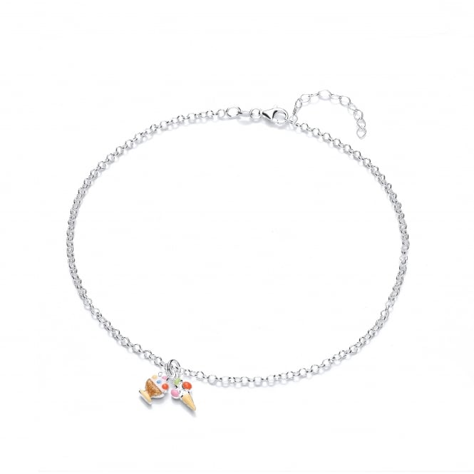 David Deyong Sterling Silver Children's Ice Cream Necklace