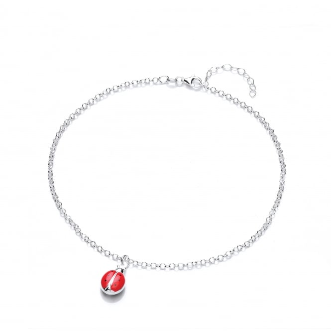 David Deyong Sterling Silver Children's Red Ladybug Necklace