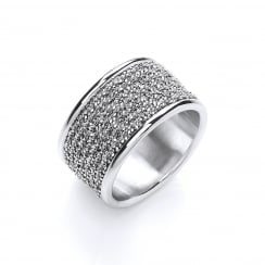Sterling Silver Chunky Wrapped Chain Ring