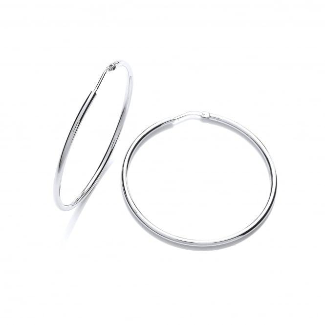 David Deyong Sterling Silver Classic 45mm Fine Hoop Earrings