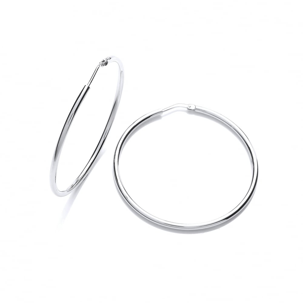 80805fc7b Sterling Silver Classic 55mm Fine Hoop Earrings by David Deyong