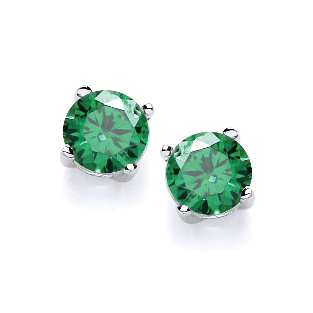 2b41f26de Birthstone Earrings Jewellery London | Created Green Emerald Stud ...