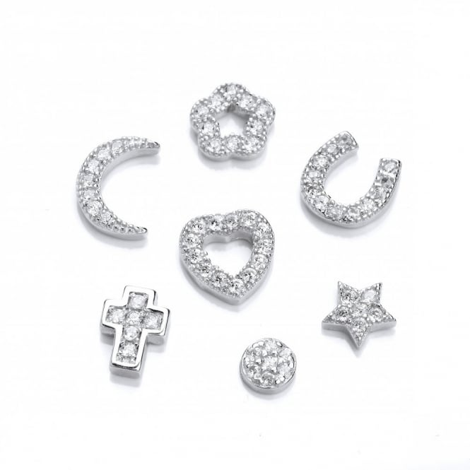 David Deyong Sterling Silver & Cubic Zirconia Symbol Charm For Locket