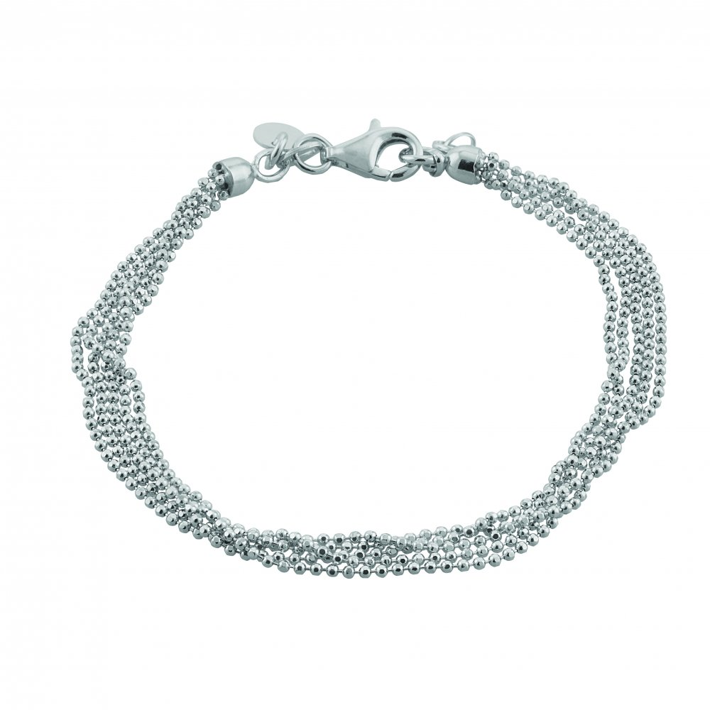 7e9644101 Sterling Silver Diamond Cut Five Chains Bracelet by David Deyong