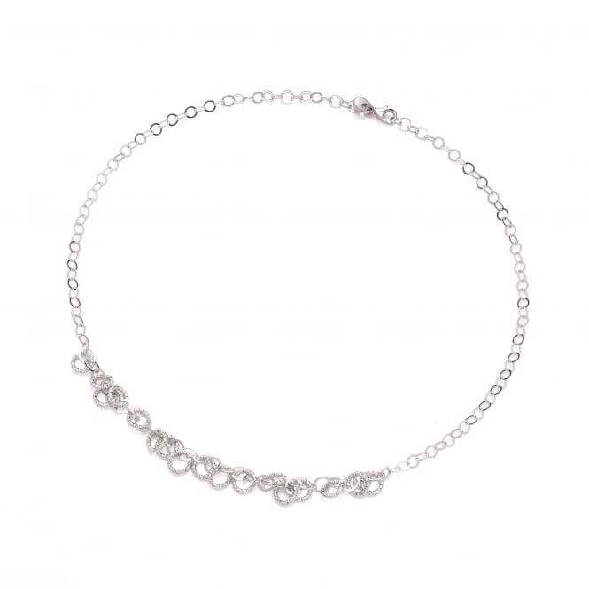 David Deyong Sterling Silver Diamond Cut Multi Circle Necklace