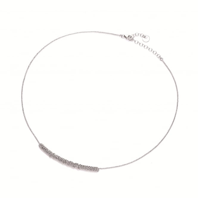 David Deyong Sterling Silver Diamond Cut Rings Necklace