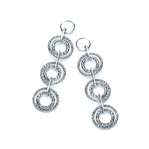 a305b9804 Sterling Silver Diamond Cut Triple Drop Earrings. David Deyong Sterling  Silver Diamond ...