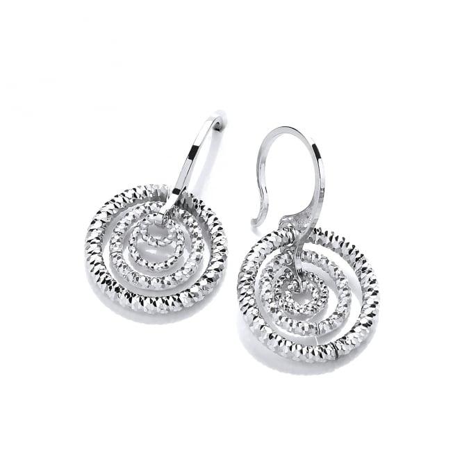 David Deyong Sterling Silver Diamond Cut Triple Hoop Earrings