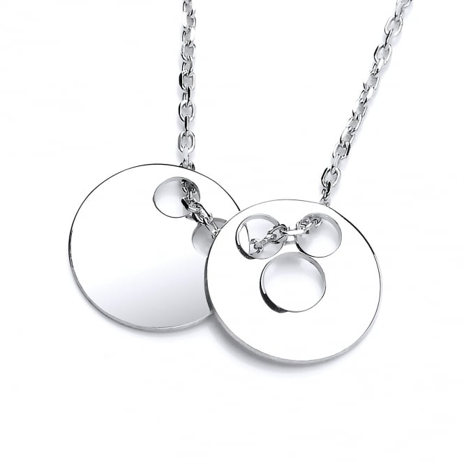 David Deyong Sterling Silver Double Disc Necklace