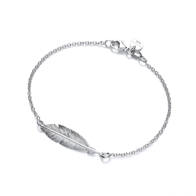 David Deyong Sterling Silver Feather Bracelet