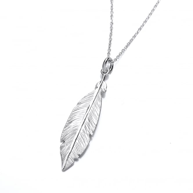 David Deyong Sterling Silver Feather Necklace