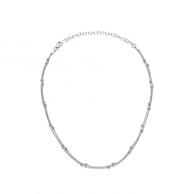 David Deyong Sterling Silver Fine Ball Chain 14.5'' Choker Necklace