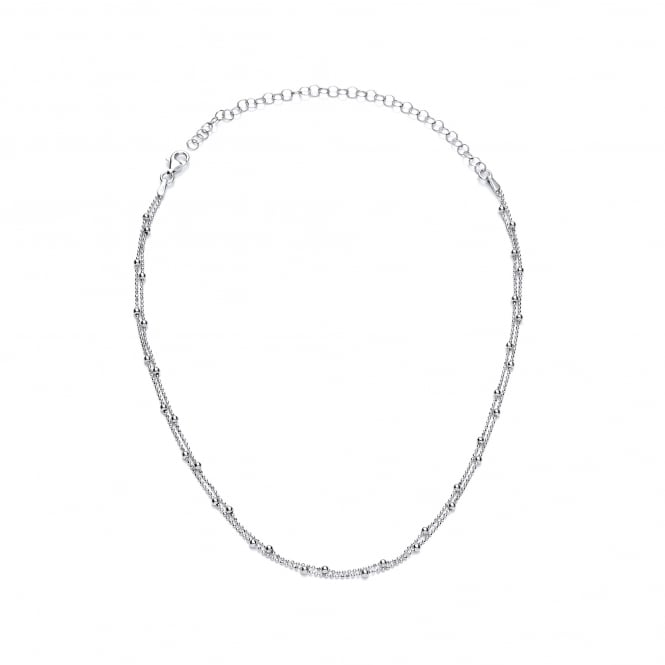 David Deyong Sterling Silver Fine Ball Chain 15.5'' Choker Necklace