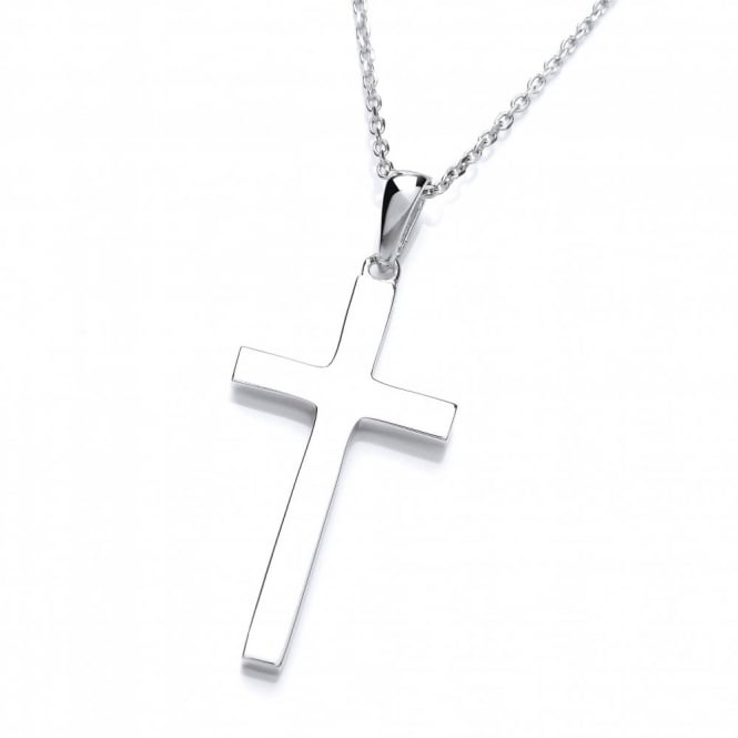 David Deyong Sterling Silver Fine Cross Pendant
