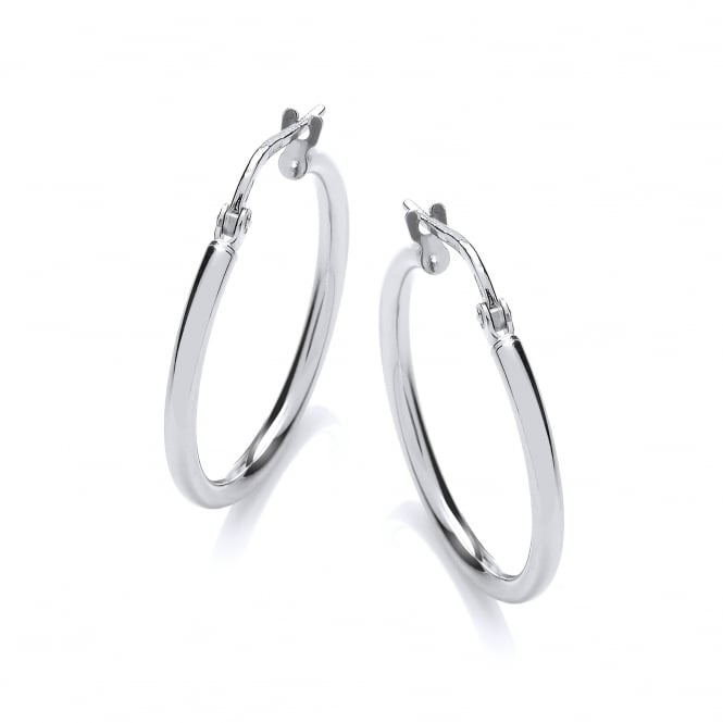 David Deyong Sterling Silver Fine Hinged Hoop Earrings