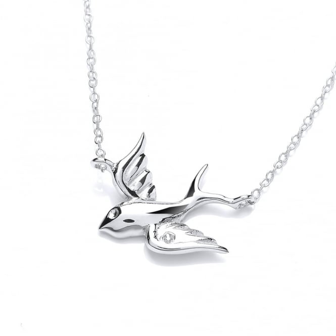 David Deyong Sterling Silver Flying Bird Necklace