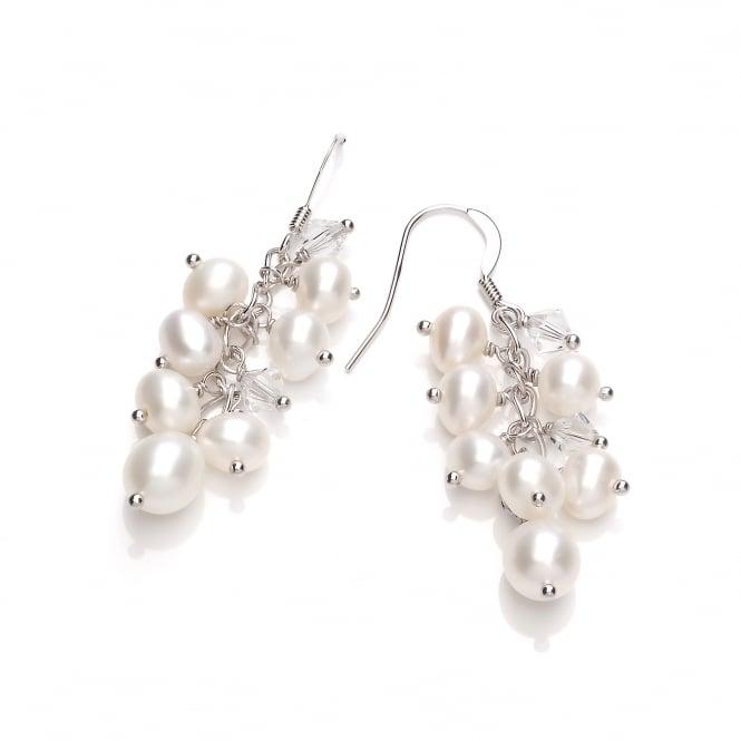 David Deyong Sterling Silver & Freshwater Pearl Cluster Drop Earrings