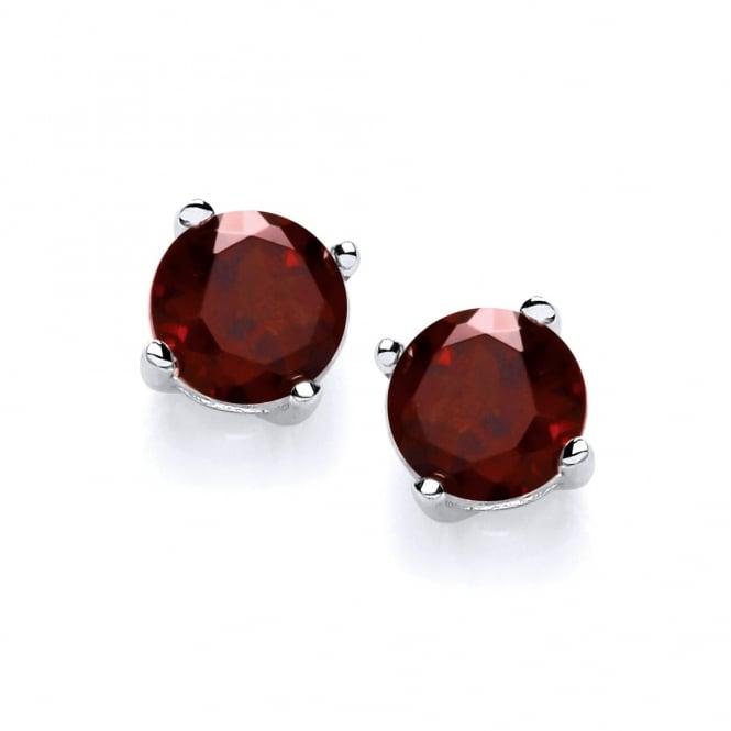 David Deyong Sterling Silver Garnet Stud Earrings