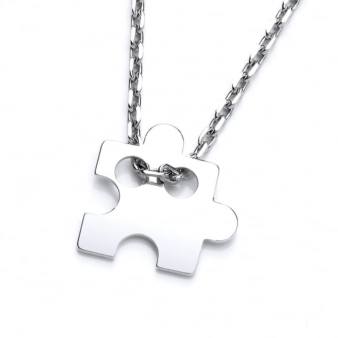 David Deyong Sterling Silver Jigsaw Piece Fine Necklace