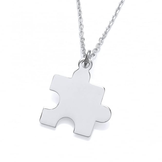 David Deyong Sterling Silver Jigsaw Puzzle Piece Necklace