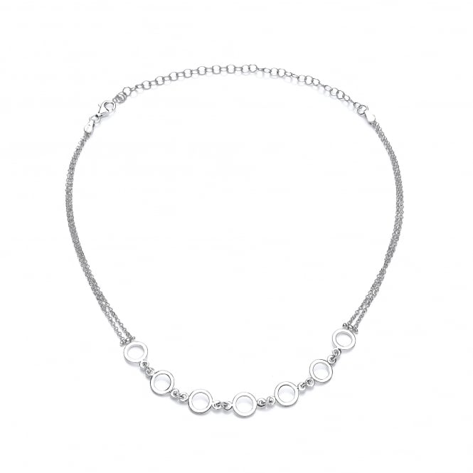 David Deyong Sterling Silver Links Choker Necklace