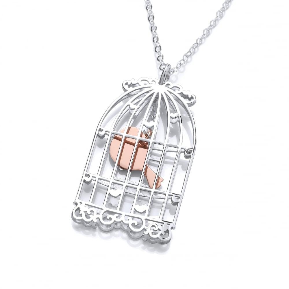 bd839f0ed670e David Deyong Sterling Silver Long Birdcage Necklace
