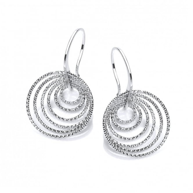 David Deyong Sterling Silver Multi Hoops On Hooks Earrings