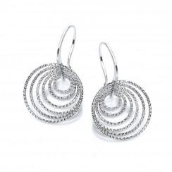 Sterling Silver Multi Hoops On Hooks Earrings