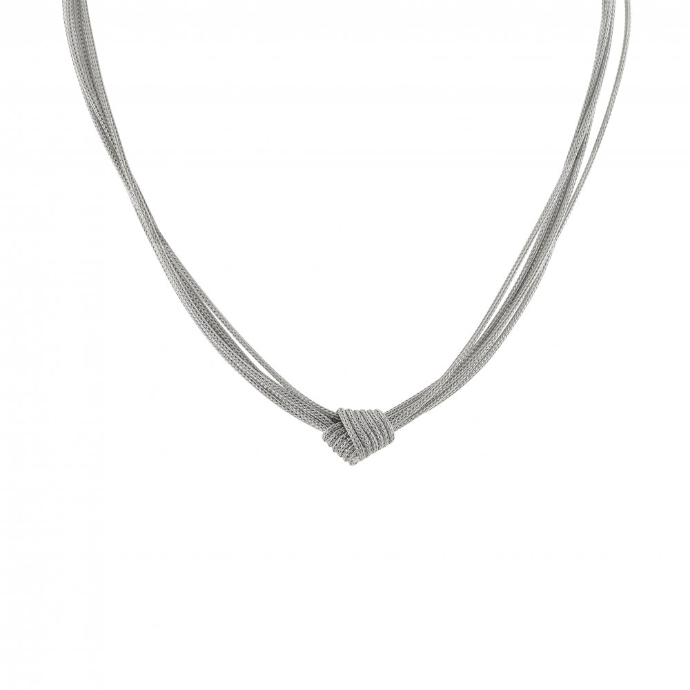 Sterling Silver Multi Strand Rope Amp Knot Necklace By David