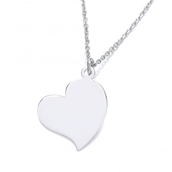 David Deyong Sterling Silver Off-Center Heart Necklace