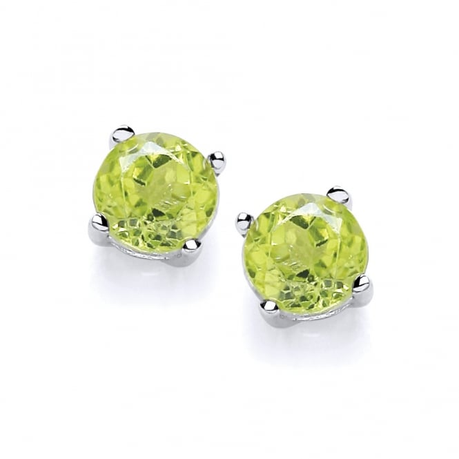 David Deyong Sterling Silver Peridot Stud Earrings