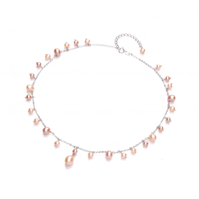 David Deyong Sterling Silver & Pink Freshwater Pearl Drop Necklace
